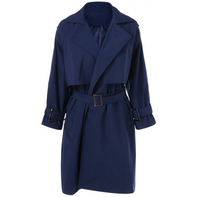 Belted Patchwork Trench Coat