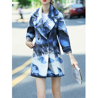 Double-Breasted Ombre Wool Coat