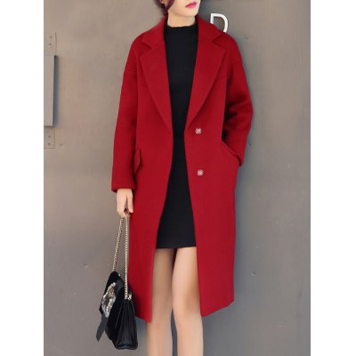Two Button Long Wool Coat