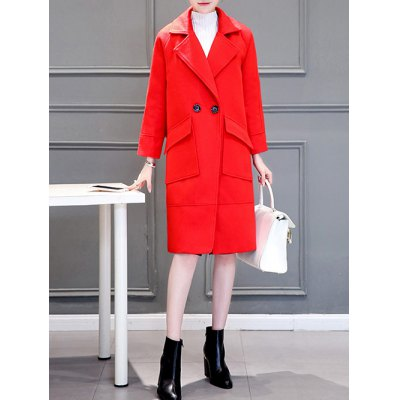 Long Two Button Oversized Cashmere Coat