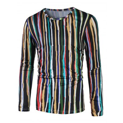 Colorful Vertical Striped T-Shirt