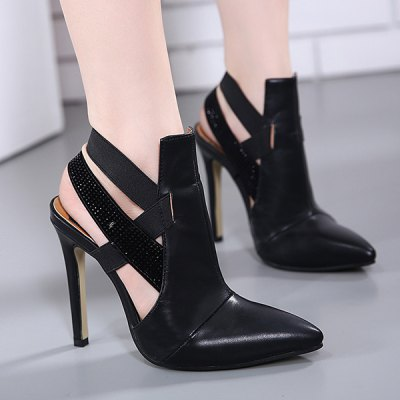 Cut Out Pointed Toe Pumps