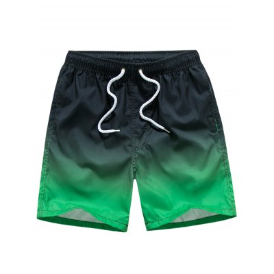 Drawstring Ombre Board Shorts
