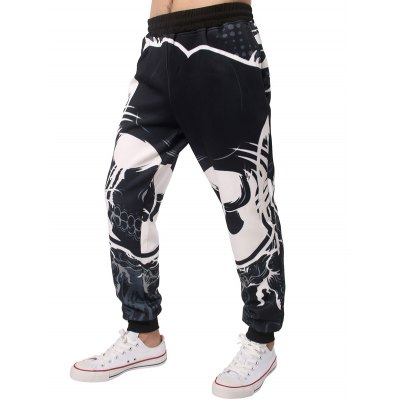 Beem Feet 3D Wave Print Jogger Pants