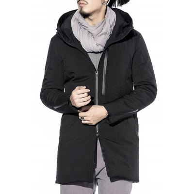 Zippered Hooded Padded Coat