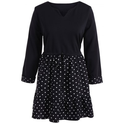 Polka Dot Splicing Dress