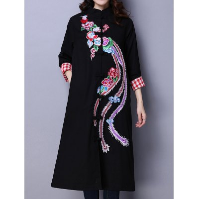 Phoenix Embroidered Padded Coat