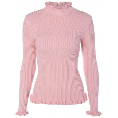 Mock Neck Long Sleeve Tight Pullover Sweater