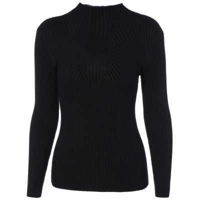 High Neck Long Sleeve Tight Pullover Sweater