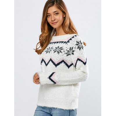 Merry Christmas Snowflake SweaterSweaters &amp; Cardigans<br>Merry Christmas Snowflake Sweater<br><br>Type: Pullovers<br>Material: Acrylic<br>Sleeve Length: Full<br>Collar: Jewel Neck<br>Style: Casual<br>Pattern Type: Others<br>Season: Fall,Winter<br>Elasticity: Elastic<br>Weight: 0.570kg<br>Package Contents: 1 x Sweater