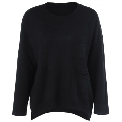 Loose Pocket Pullover Sweater