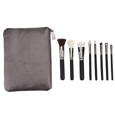 8 Pcs Face Eye Makeup Brushes Set with Brush Bag