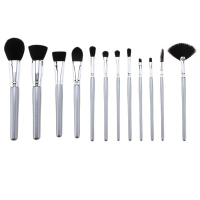 12 Pcs Fiber Facial Makeup Brushes Set