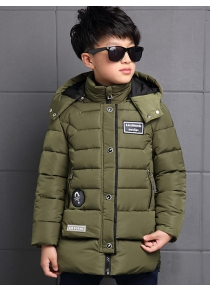 Kids Hooded Quilted Jacket