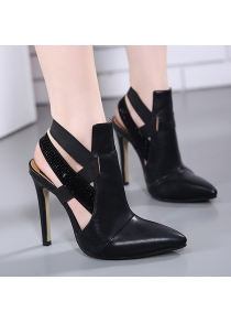 Stiletto Heel Cut Out Pointed Toe Pumps