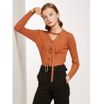 Pullover Buttoned Tied-Up Knitwear deal