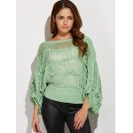 cheap Knotted Hollow Out Ripped Sweater