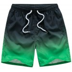 Eyelet Embellished Drawstring Ombre Board Shorts