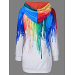 cheap Oil Paint Over Print Hoodie M