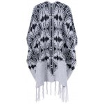 cheap Fringed Bat Sleeve Asymmetrical Cardigan