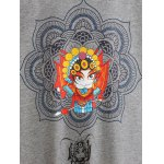 Plus Size Fleeced Peking Opera Pattern Sweatshirt deal