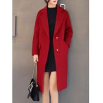 Two Button Slim Long Wool Coat