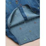 best Maple Embroidered Denim Shirt With Pockets