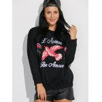 cheap Drop Shoulder Sweatshirt with Embroidery