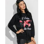 Drop Shoulder Sweatshirt with Embroidery for sale