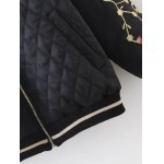 Argyle Embroidered Quilted Bomber Jacket for sale