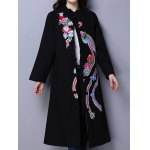 Phoenix Embroidered Wool Blend Maxi Coat for sale