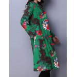 Floral Print A Line Padded Coat deal
