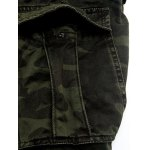 Plus Size Pockets Embellished Camouflage Cargo Pants for sale