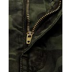 Plus Size Pockets Embellished Camouflage Cargo Pants deal