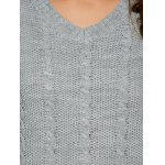 Comfy Double Pockets Cable Knit Sweater photo