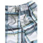 cheap Tartan Pattern Lace-Up Straight Leg Shorts