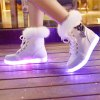 Furry Lace-Up Led Luminous Boots deal