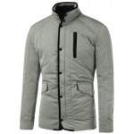 Stand Collar Flap Pocket Padded Jacket