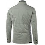 cheap Stand Collar Flap Pocket Padded Jacket
