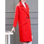 cheap Long Two Button Oversized Cashmere Coat