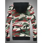cheap Hooded Camouflage Zip-Up Hoodie