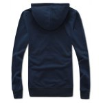 cheap Hooded Color Block Splicing Zip-Up Embroidered Hoodie