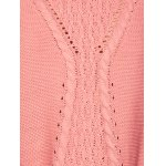 Long Drop Shoulder Butterfly Cable Knit Sweater photo