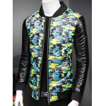 Plus Size Stand Collar Camouflage Zip-Up Padded Jacket deal