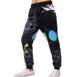cheap Water Round Print Elastic Waist Jogger Pants