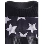 Faux Leather Stars Panel Tunic Top deal