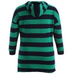 cheap High-Low Striped Casual Hoodie