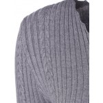 V Neck Fitted Cable Knit Sweater deal