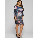 Devil Skull Print Mini Bodycon Dress deal