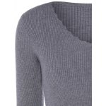 V Neck Fitted Pullover Sweater deal